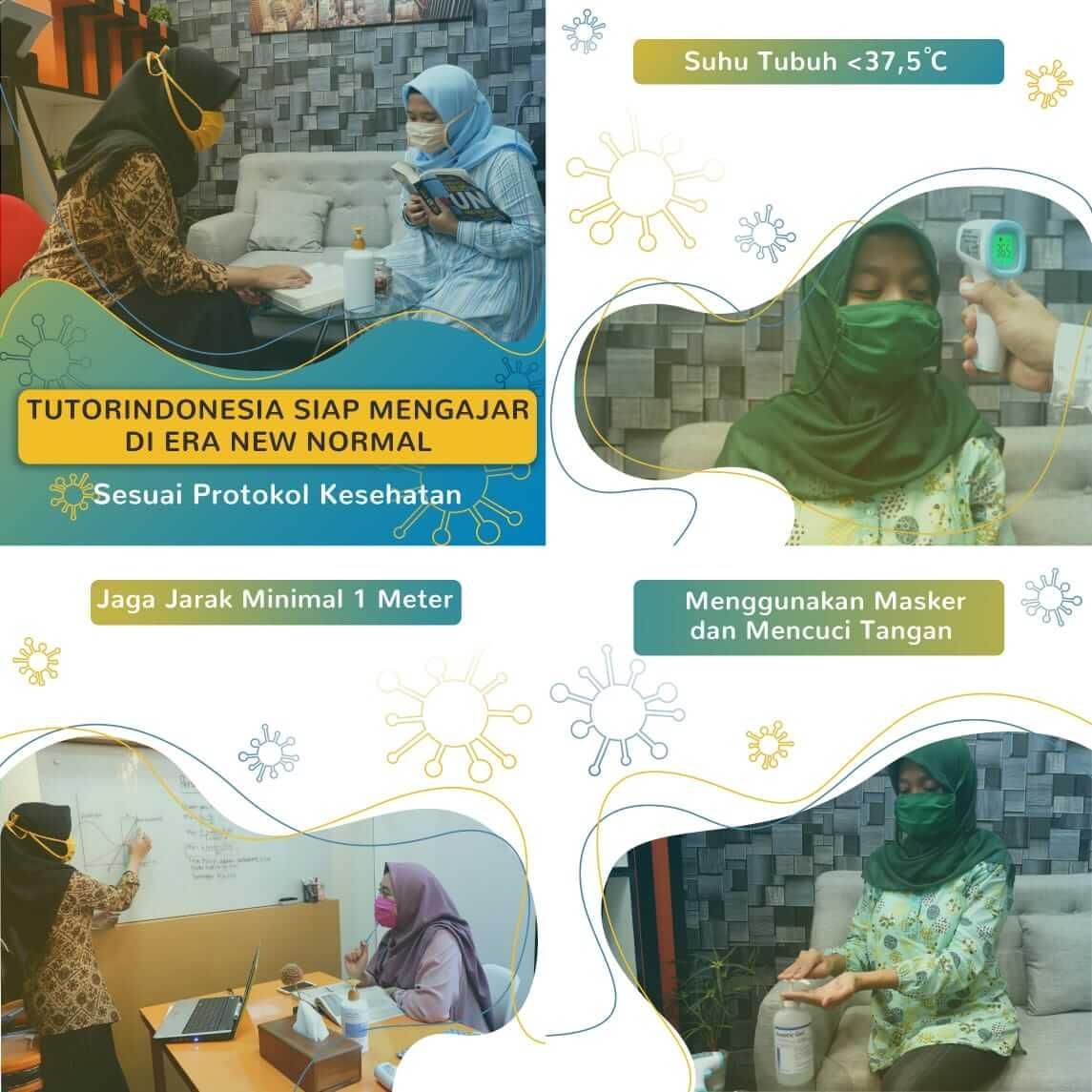 les privat jakarta dengan protokol kesehatan tutorindonesia